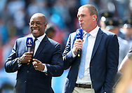 Arsenal's former player Ian Wright and Manchester City's former player Richard Dunne during the FA Cup Semi Final match at Wembley Stadium, London. Picture date: April 23rd, 2017. Pic credit should read: David Klein/Sportimage