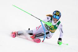 January 7, 2018 - Kranjska Gora, Gorenjska, Slovenia - Katharina Gallhuber of Austria competes on course during the Slalom race at the 54th Golden Fox FIS World Cup in Kranjska Gora, Slovenia on January 7, 2018. (Credit Image: © Rok Rakun/Pacific Press via ZUMA Wire)