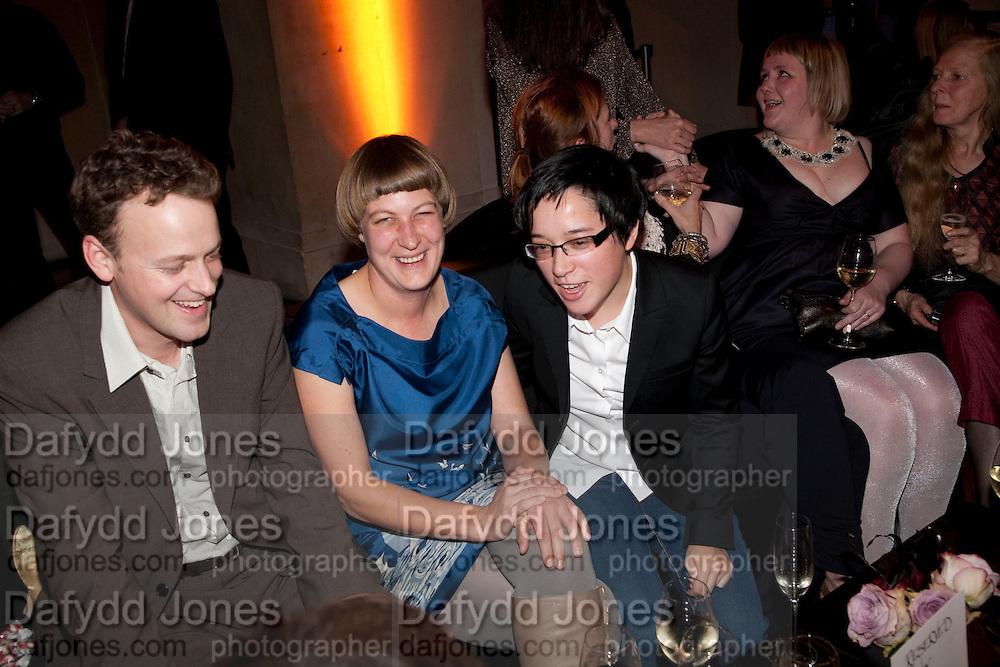 NICK SKIER; LUCY SKIER; ISLA LEAVER-YAP;  Turner prize 2009. Tate Britain. Millbank. London. 7 December 2009