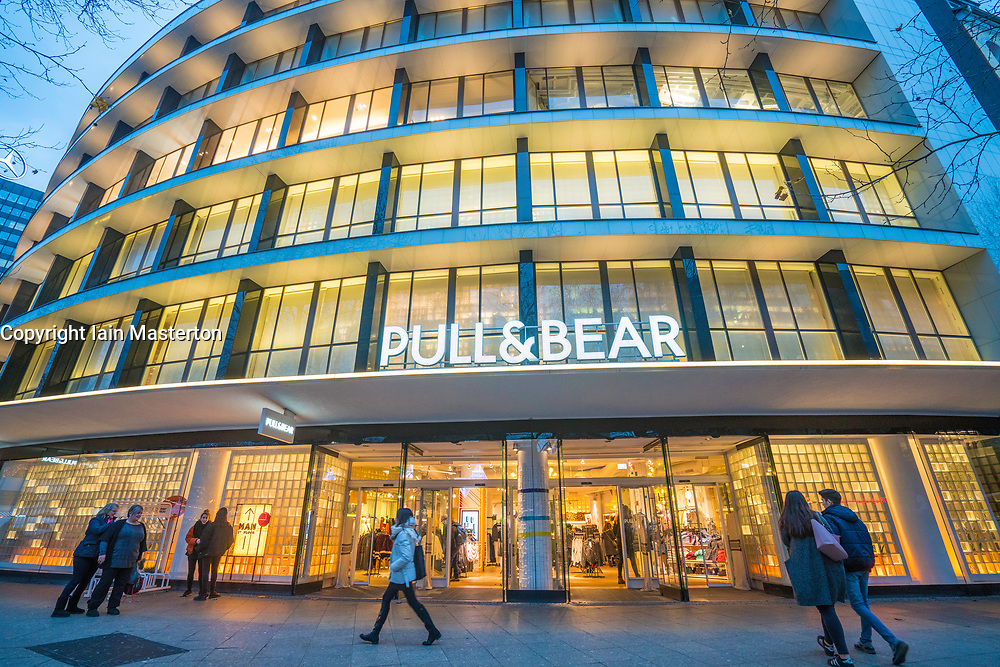 Pull & Bear  store on famous Kurfurstendamm shopping street in Berlin, Germany.