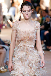 Model McKenna Hellam walks on the runway during the Alberta Ferretti Fashion Show during Milan Fashion Week Spring Summer 2018 held in Milan, Italy on September 20, 2017. (Photo by Jonas Gustavsson/Sipa USA)