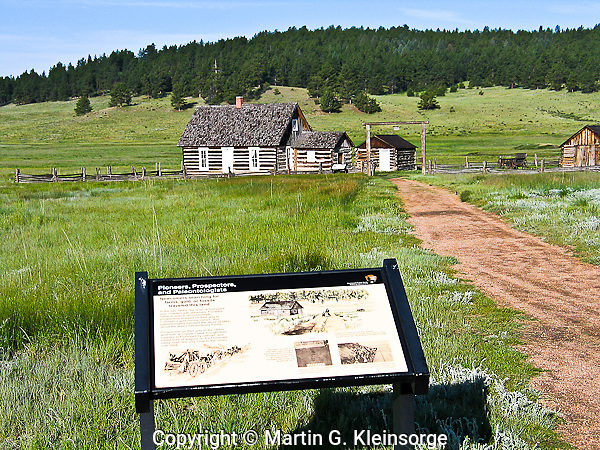 Entrance to the 1887 homestead of Adaline Hornbek and family.  Florissant Fossil Beds National Monument, Colorado.