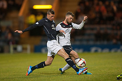 Dundee's Iain Davidson and Falkirk's Rory Loy.<br /> Dundee 1 v 1 Falkirk, Scottish Championship game at Dundee's home ground Dens Park.<br /> ©Michael Schofield.