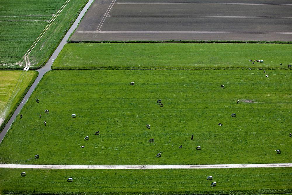 Nederland, Zuid-Holland, Groene Hart, 12-05-2009; Polder Zevenhoven met grazende Holsteiner koeien in het weiland.Swart collectie, luchtfoto (toeslag); Swart Collection, aerial photo (additional fee required).foto Siebe Swart / photo Siebe Swart