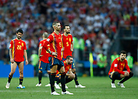 Sergio Ramos and teammates of Spain disappointment during the penalties<br /> Moscow 01-07-2018 Football FIFA World Cup Russia  2018 <br /> Spain - Russia / Spagna - Russia <br /> Foto Matteo Ciambelli/Insidefoto
