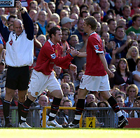 Photo: Jed Wee.<br />Manchester United v Blackburn Rovers. The Barclays Premiership. 24/09/2005.<br /><br />The fans stood up and spoke up as sustained chants of 4-4-2, with reference to getting a strike partner for Ruud van Nistelrooy, is rewarded with Wayne Rooney making a second half appearance.