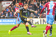 Billy Clarke of Bradford City (17) in action during the EFL Sky Bet League 1 match between Scunthorpe United and Bradford City at Glanford Park, Scunthorpe, England on 27 April 2019.