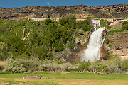 Thousand Springs from Ritter Island along the Snake River in Hagerman, Idaho.