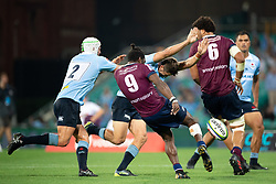 March 9, 2019 - Sydney, NSW, U.S. - SYDNEY, NSW - MARCH 09: Reds player Moses Sorovi (9) kicks the ball at round 4 of Super Rugby between NSW Waratahs and Queensland Reds on March 09, 2019 at The Sydney Cricket Ground, NSW. (Photo by Speed Media/Icon Sportswire) (Credit Image: © Speed Media/Icon SMI via ZUMA Press)