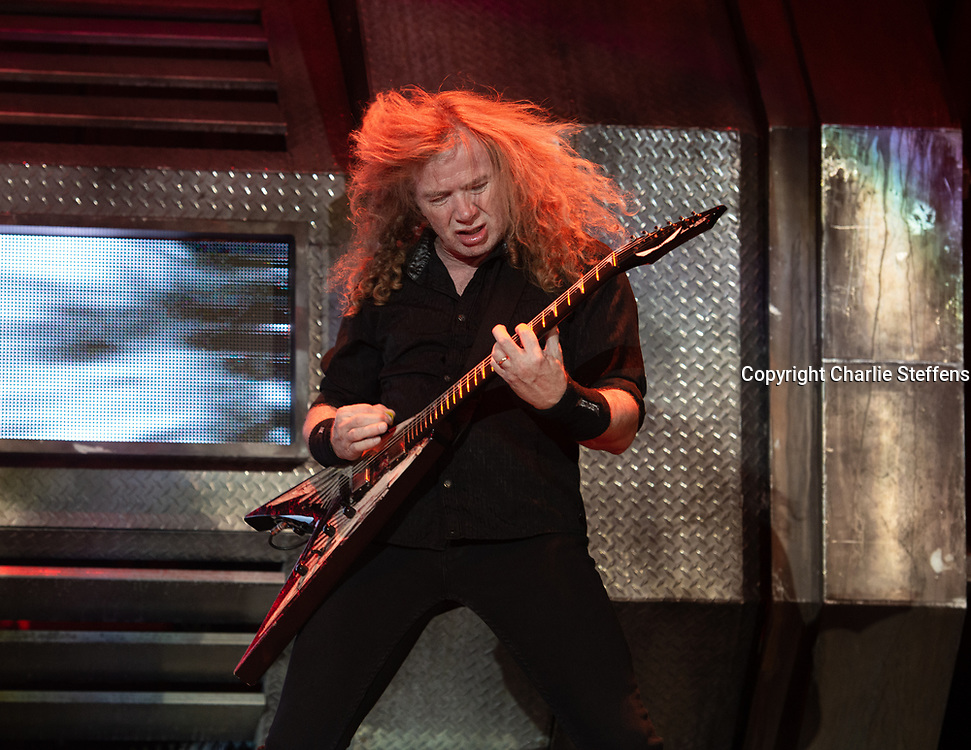 DAVE MUSTAINE of Megadeth at Ozzfest Meets Knotfest 2016 at San Manuel Amphitheater in San Bernardino, California