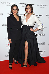 Eva Longoria Baston and Maria Bravo attending the 9th Annual Global Gift Gala held at the Rosewood Hotel, London. Picture date: Friday November 2nd 2018. Photo credit should read: Matt Crossick/ EMPICS Entertainment.