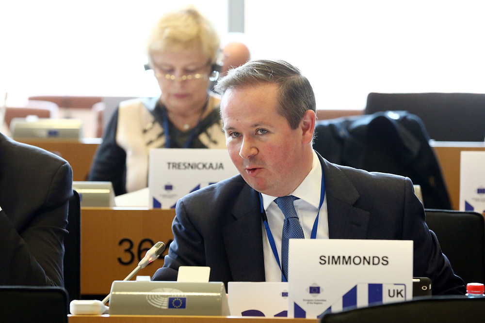 12 May 2017, 123rd Plenary Session of the European Committee of the Regions <br /> Belgium - Brussels - May 2017 <br /> <br /> Mr SIMMONDS David, Councillor, London Borough of Hillingdon United Kingdom<br /> <br /> © European Union / Patrick Mascart
