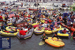 Boats in McCovey Cove, Sports Illustrated, 2001
