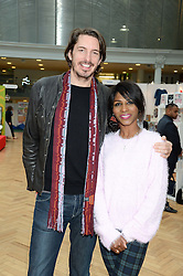 JASON GALE and SINITTA at the Plusher Fair, Lindley Hall, Royal Horticultural Halls, Vincent Square, London, on 9th November 2013.