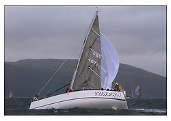 The second days racing at the Bell Lawrie Yachting Series in Tarbert Loch Fyne ...Strong winds, high seas and heavy rain dominated the day...GBR4072C Tundra a Seaquest 36 in Class two..