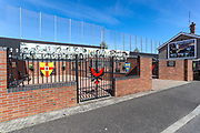 A war memorial commemorating August 1969 is pictured in Bombay Street, West Belfast on Thursday, April 22, 2021. Following a gunfight between republicans with the RUC and loyalist gunmen along with the nearby interface with the mainly Protestant Shankill area, on the night of August 15th, 1969, with tensions running high in the aftermath of the civil rights marches, a loyalist mob rampaged through Bombay Street in west Belfast, throwing incendiary devices into each home. (Photo/ Vudi Xhymshiti)