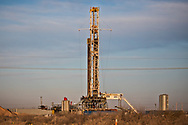 Drilling rig in the Permain Basin on the outskirts of Midland Texas.