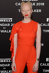 Thando Hopa attends the photocell for The Pirelli 2018 Calendar by Tim Walker Launch Press Conference at the Pierre Hotel in New York, NY, on November 10, 2017. (Photo by Anthony Behar/Sipa USA)