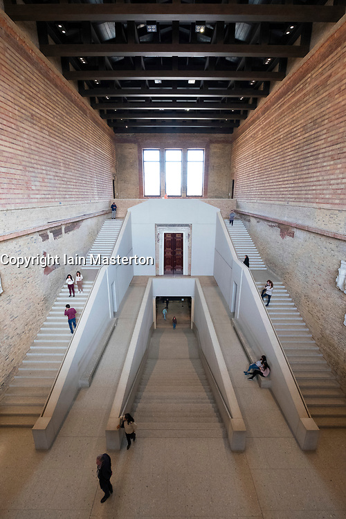 Interior of Neues Museum  on Museum Island , Museumsinsel, Berlin, Germany