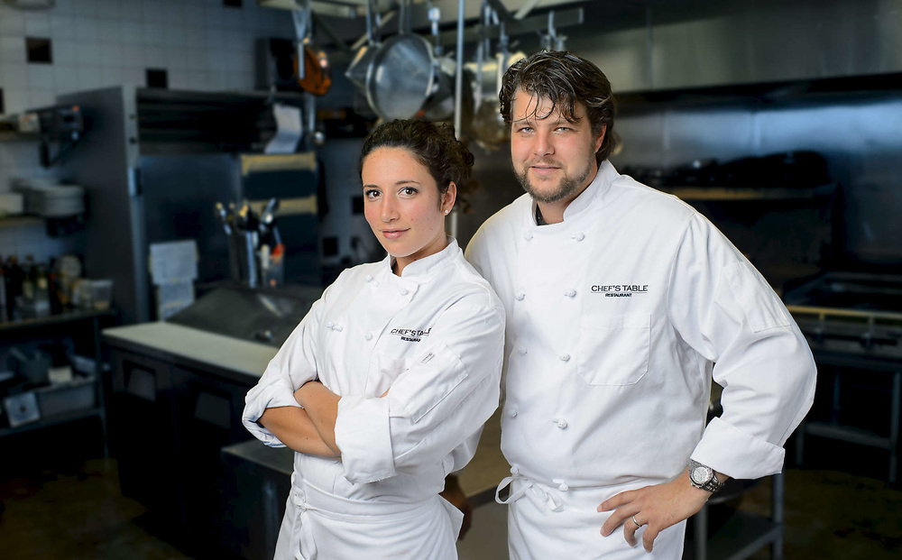 Chef's Adam and Katie Owners of the Chef's Table in Stuart, Florida