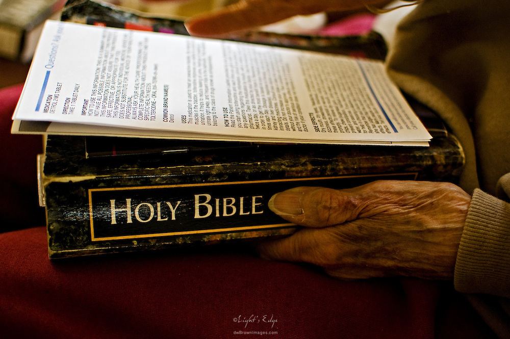 As she approached 90 years of age drug fact sheets and the Bible became her two primary texts of guidance.