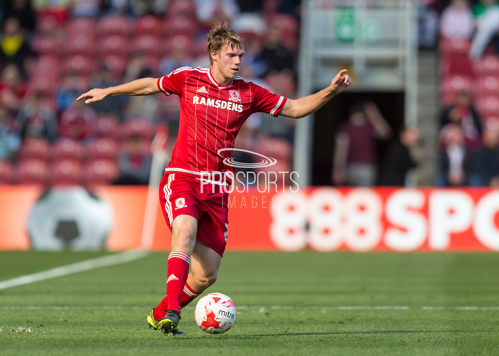 Middlesbrough FC defender Tomas Kalas during the Sky Bet Championship match between Middlesbrough and Leeds United at the Riverside Stadium, Middlesbrough, England on 27 September 2015. Photo by George Ledger.
