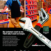 Crescent Wrenches Advertisement, Cooper Hand Tools