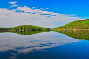 Clouds reflected in Blindfold Lake<br />