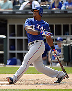 CHICAGO - APRIL 24:  Adrian Beltre #29 of the Texas Rangers bats against the Chicago White Sox on April 24, 2016 at U.S. Cellular Field in Chicago, Illinois.  The White Sox defeated the Rangers 4-1.  (Photo by Ron Vesely)   Subject: Adrian Beltre