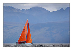 Yachting- The first days inshore racing  of the Bell Lawrie Scottish series 2003 at Tarbert.  Light shifty winds dominated the racing...Blue Bell, Class One Kerr 11.3...Pics Marc Turner / PFM