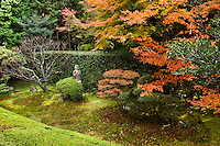 Keishun-in Temple has different types of gardens called the Garden of Purity to the south and the Garden of Manas to the east. Keishun-in is a smal sub temple at Myoshinji