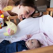 Federica and Giulio - Naples, April 2016. Federica, 30 years old, with her daughter Eleonora, born on December 2015.<br /> Federica has been aware to be affected by multiple sclerosis from 2012. Despite the difficulties, she did not allow the disease to compromise her happiness and the desire to be a mother.<br /> <br /> Federica e Giulio - Napoli, Aprile  2016.Federica, 30 anni, con la figlia Eleonora, nata nel Dicembre 2015.<br /> Federica ha saputo di essere affetta da sclerosi multipla nel 2012. Nonostante le difficoltà non ha permesso che la patologia compromettesse la sua felicità e desiderio di essere madre.