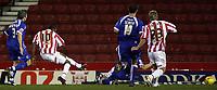 Photo: Paul Thomas.<br /> Stoke City v Cardiff City. Coca Cola Championship. 28/11/2006.<br /> <br /> Stoke's Ricardo Fuller (10) scores.