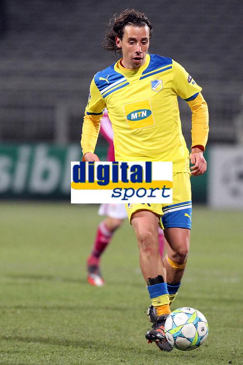 FOOTBALL - UEFA CHAMPIONS LEAGUE 2011/2012 - 1/8 FINAL - 1ST LEG - OLYMPIQUE LYONNAIS v APOEL FC - 14/02/2012 - PHOTO EDDY LEMAISTRE / DPPI - HELDER SOUSA (APOEL)