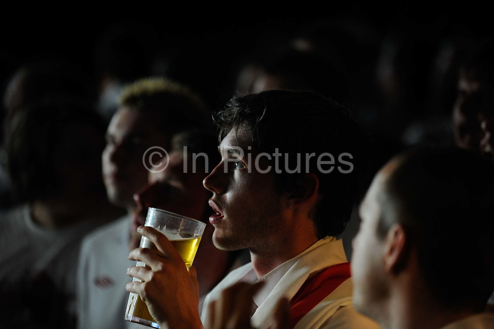 English fans in a bar in London, as England play Slovenia in the 2010 FIFA World Cup.