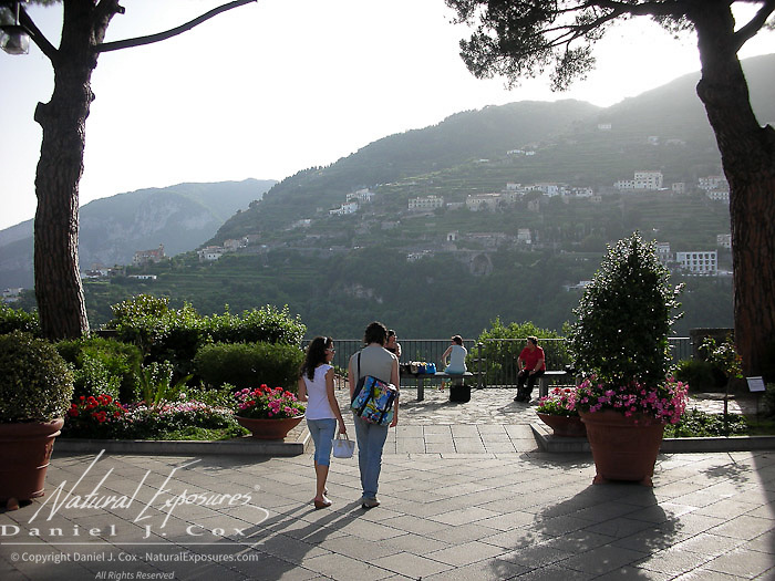 Family in Ravello, Italy.