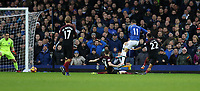 Football - 2016 / 2017 Premier League - Everton vs. Manchester City<br /> <br /> Kevin Mirallas of Everton scores during the match at Goodison Park.<br /> <br /> COLORSPORT/LYNNE CAMERON