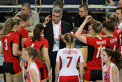 04.01.2014, Atlas Arena, Lotz, POL, FIVB, Damen WM Qualifikation, Belgien vs Schweiz, im Bild Trener Gert VANDE BROEK (BEL) // Trener Gert VANDE BROEK (BEL) during the ladies FIVB World Championship qualifying match between Belgium and Switzerland at the Atlas Arena in Lotz, Poland on 2014/01/05. EXPA Pictures © 2014, PhotoCredit: EXPA/ Newspix/ Tomasz Jastrzebowski<br /> <br /> *****ATTENTION - for AUT, SLO, CRO, SRB, BIH, MAZ, TUR, SUI, SWE only*****
