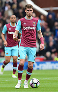 Havard Nordtveit of West Ham utd in action. Premier league match, Stoke City v West Ham Utd at the Bet365 Stadium in Stoke on Trent, Staffs on Saturday 29th April 2017.<br /> pic by Bradley Collyer, Andrew Orchard sports photography.