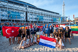 15-07-2018 NED: CEV DELA Beach Volleyball European Championship day 1<br /> Start of the DELA EC Beach Volleyball 2018