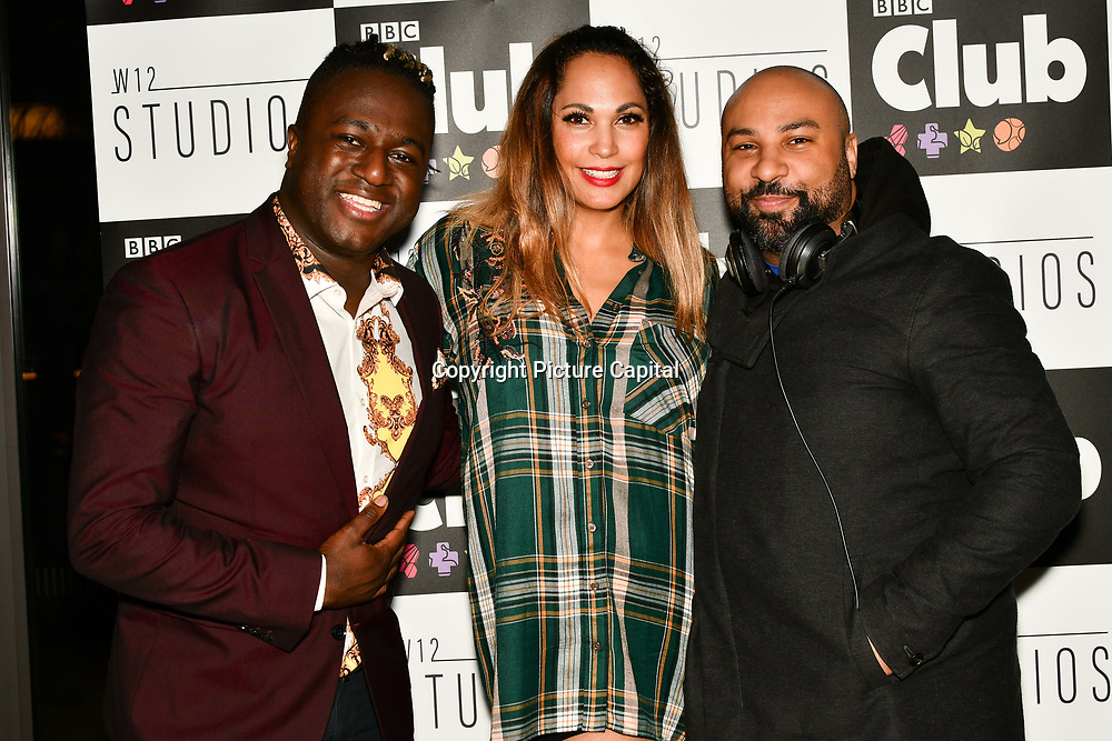 Jordan Charles and HunnyB attend BBC Club at W12 Studios Lunch party on 14 March 2019, London, UK.