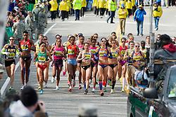 2013 Boston Marathon: elite women start