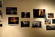 San Antonio, Texas. October 2011. The prints that create 'BURN-ed Garden' at Smartart Project Space.