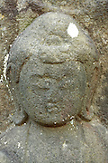 head of a a Sekibutu, stone Buddha, late Edo period