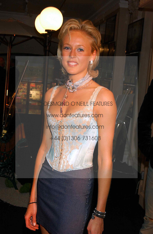 LADY ALEXANDRA SPENCER-CHURCHILL at a party to celebrate 'Made in Italy at Harrods' - a celebration of Italian fashion food and wine, design and interiors, art and photography, cinema and music, beauty and glamour.  The party was held in the Georgian Restaurant at Harrods, Knightsbridge, London on 9th September 2004.<br />
