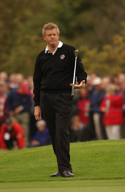 Sutton Coldfield, UK..2002 Ryder Cup..09/27/02, Saturday  Morning Foursomes Matches..Photograph