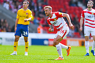 James Coppinger of Doncaster Rovers (26) reacts during the EFL Sky Bet League 1 play off first leg match between Doncaster Rovers and Charlton Athletic at the Keepmoat Stadium, Doncaster, England on 12 May 2019.