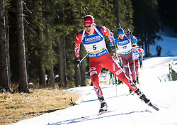 Emil Hegle Svendsen (NOR)  during Men 15 km Mass Start at day 4 of IBU Biathlon World Cup 2015/16 Pokljuka, on December 20, 2015 in Rudno polje, Pokljuka, Slovenia. Photo by Vid Ponikvar / Sportida