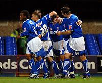 Photo: Ashley Pickering.<br />Ipswich Town v Preston North End. Coca Cola Championship. 17/10/2006.<br />John Macken (second right) celebrates his penalty with Ipswich team mates