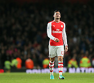 Arsenal's Olivier Giroud looks on dejected at the final whistle<br /> <br /> Barclays Premier League- Arsenal vs Manchester United - Emirates Stadium - England - 22nd November 2014 - Picture David Klein/Sportimage